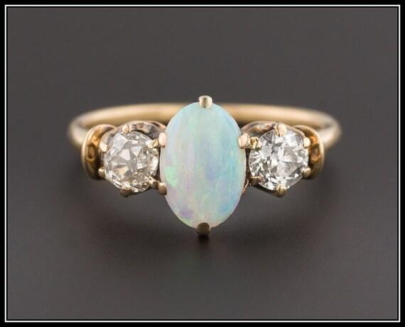 bague diamant opale