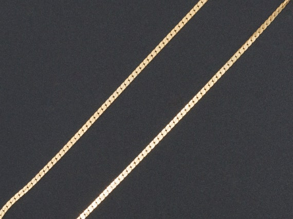 14k Gold Cable Chain | Vintage 14k Chain | Small F
