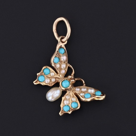 Butterfly Charm | Antique Butterfly Charm or Penda