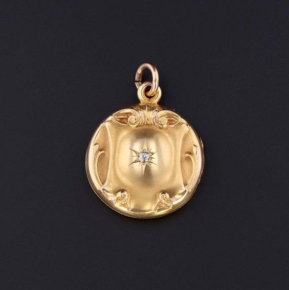 Vintage Locket | Vintage Diamond Locket | 10k Gold