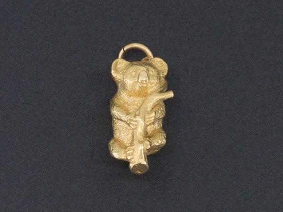 Koala Bear Charm | 18k Gold Bear Charm | 18k Gold