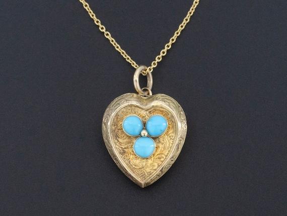 Antique Heart Charm   Antique Turquoise Charm   An