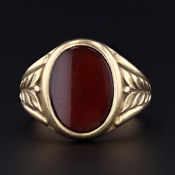 Carnelian Ring | Vintage Carnelian Ring | 14k Gold