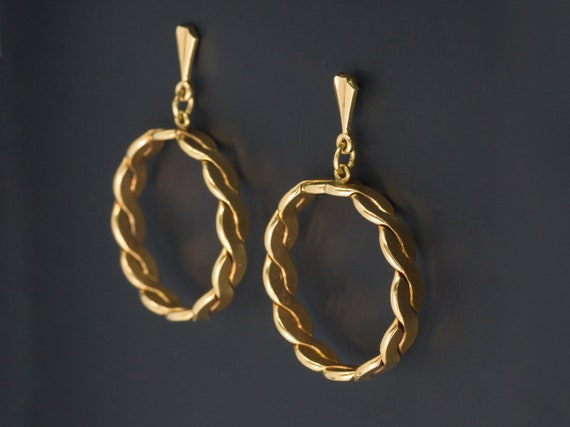 Vintage 14k Gold Earrings | Gold Hoop Earrings | V