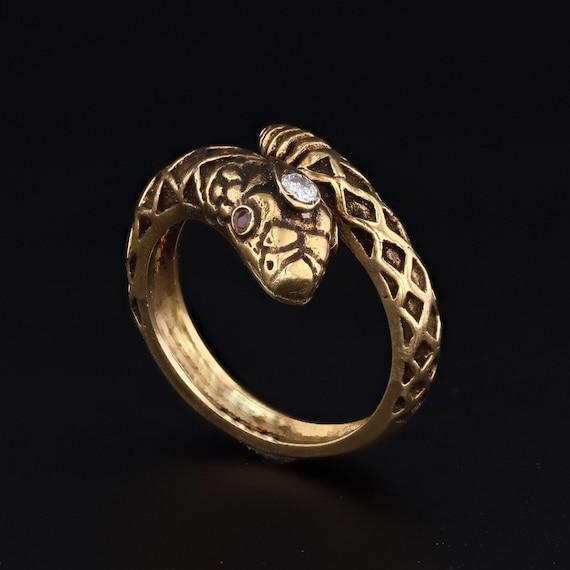 14k Gold Snake Ring | Vintage Snake Ring | 14k Gol