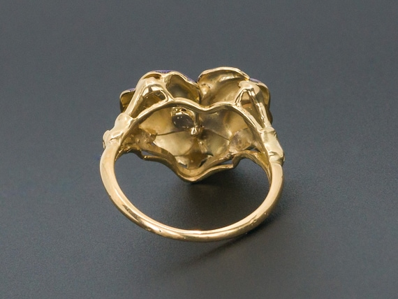 Pansy Ring | Antique Pansy Ring | Pin Conversion … - image 4