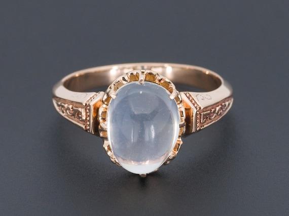 Moonstone Ring | Blue Moonstone Ring | Antique Moo