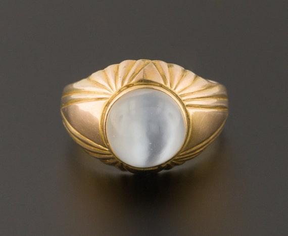 Moonstone Ring | Vintage Moonstone Ring | 14k Gold