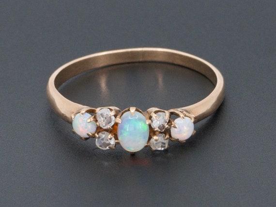 Antique Opal Ring | 14k Gold Opal Ring | Antique O