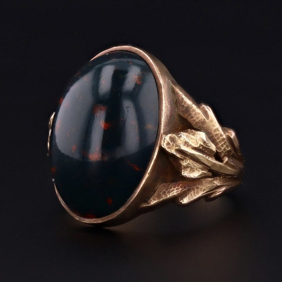 Bloodstone Ring | Antique Bloodstone Ring | 14k Go