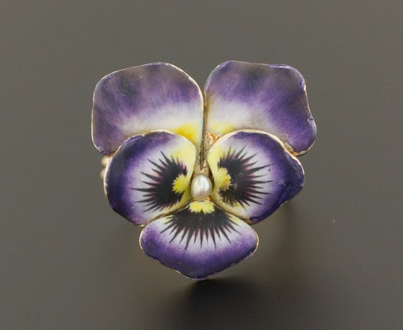 Pansy Ring | Antique Pansy Ring | Pin Conversion R