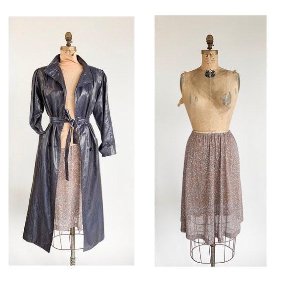 1970's Sheer Floral Skirt/Slip