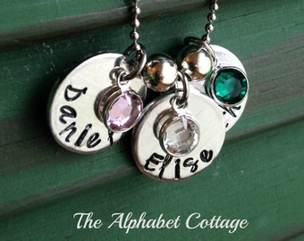 Add-A-Charm Mother's Birthstone Necklace--Kid's Names Necklace--Mommy Necklace--Grandma Necklace--Mom Gift--Sister Gift--Wife Gift