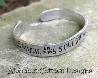 Musical Son Remembrance Cuff--Grief Jewelry--Grieving Parent Gift--Sympathy Gift--Loss of Child--Loss of Son--Musician