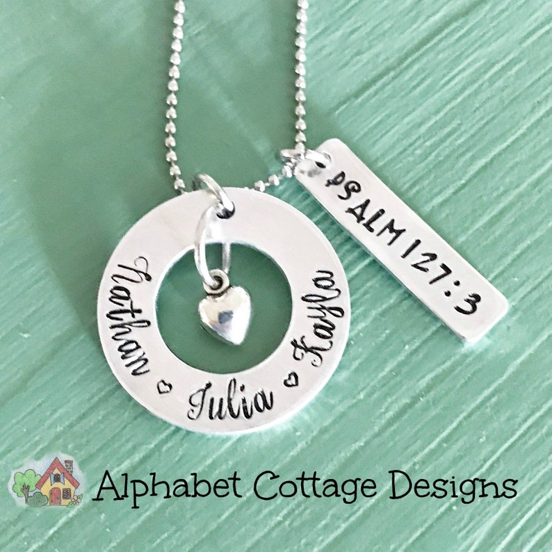 Mother's Necklace Children's Names Necklace-Mom image 0