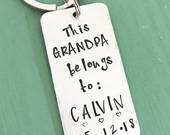 Grandpa Keychain--Gift for New Grandpa--Papaw--Grandad--New Grandparent Gift