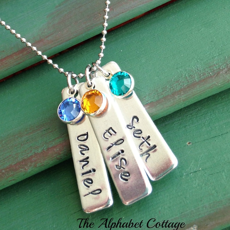 Mother's NecklaceBirthstone JewelryMom image 0