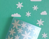 Winter Snowflakes Stickers, Snowflake Envelope Seal Stickers, Christmas DIY Packaging Stickers Gift Wrapping, Winter Scrapbooking Stickers