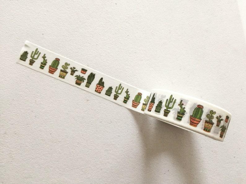 Potted Succulents Washi Tape Cactus Planner Washi Cacti image 0