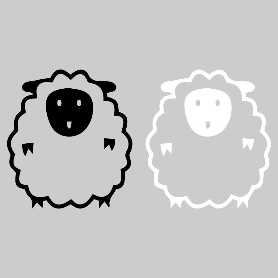 Sheep Clipart Farm Animal Clipart SVG EPS DXF File Cutting | Etsy