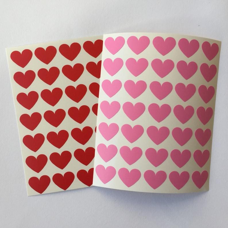 35 Valentine's Mini Hearts Stickers Valentines Seal image 0