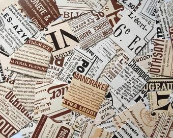 Old Newspaper Stickers, Retro Planner Stickers, Vintage Scrapbook Stickers, Travel Journal Rectangular Stickers, Planner Supplies