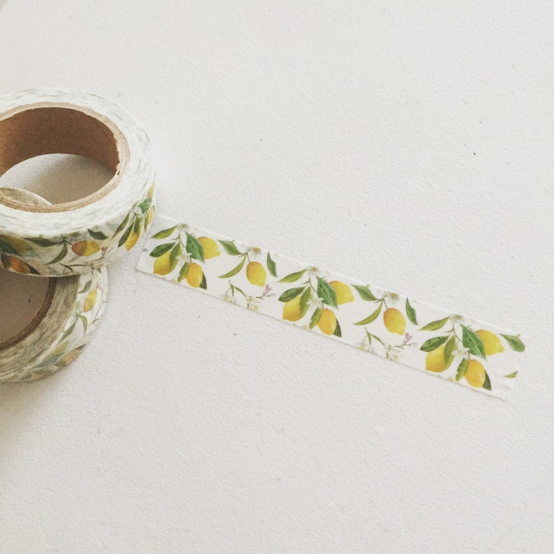 Lemons Washi Tape Citrus Fruit Planner Washi Fruity Deco image 0