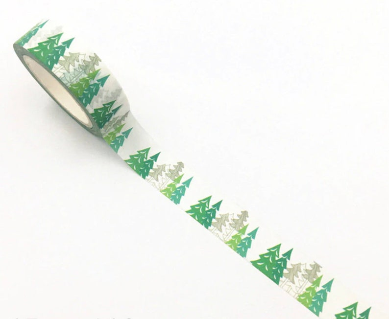 Green Forest Washi Tape Trees Planner Washi Greenery Planner image 0