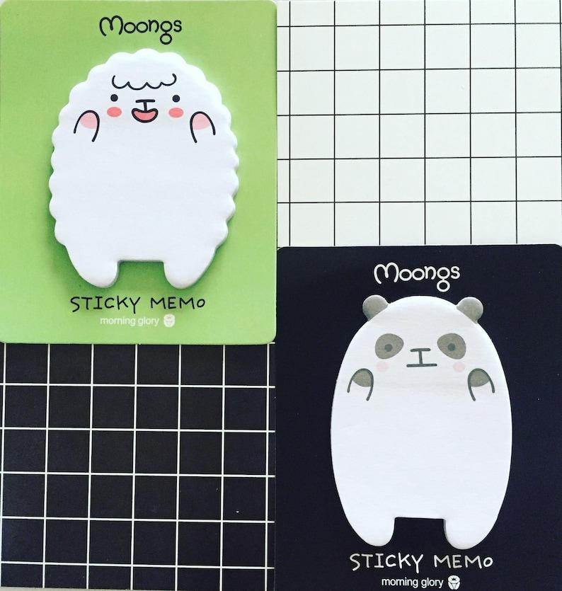 Sheep Sticky Notes Panda Sticky Notes Kawaii Animals Sticky image 0