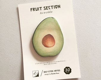 Avocado Sticky Notes, Quirky Post It Notes, Novelty Reminder Notes, Memo Pad Stickers, Avocado Lover Gift