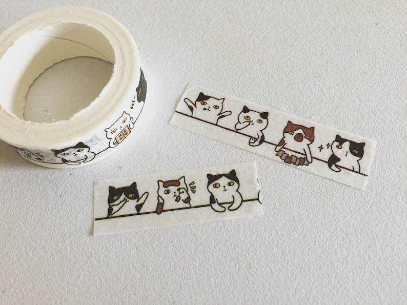 Whimsical Cats Washi Tape Kitty Washi Cat Planner Washi image 0