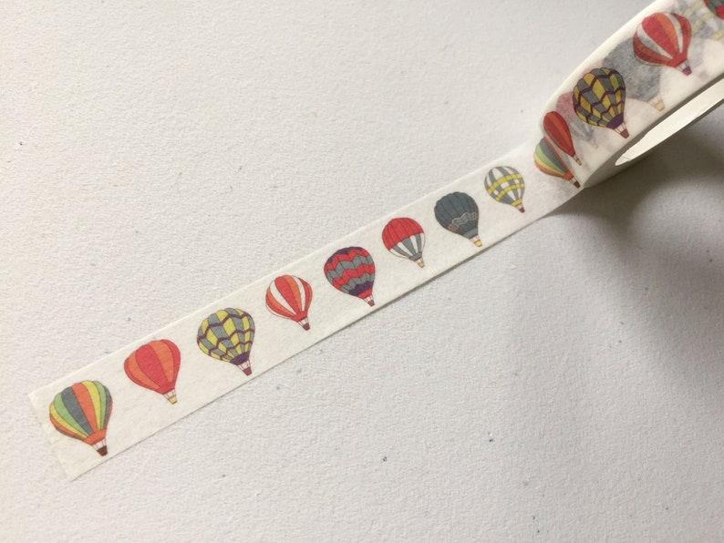 Hot Air Balloon Washi Tape Travel Balloons Planner Washi image 0