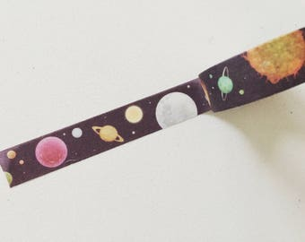 Space Planets Washi Tape, Cosmos Planner Washi, Stars Planner Tape, Decorative Tape, Crafting Tape, Gift Wrapping, Scrapbook Supplies