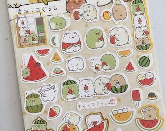 Kawaii Chubby Animal Stickers, Watermelon Mini Stickers, Chibi Planner Stickers, Diary/Calendar Stickers, Anime Decorative Stickers
