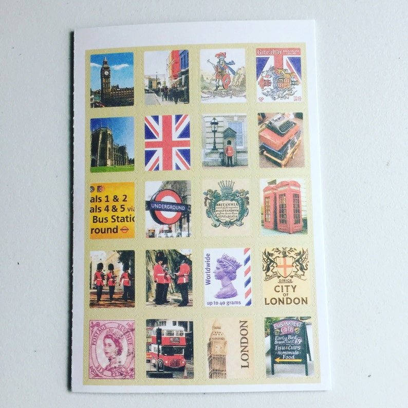 London Vintage Stamp Stickers United Kingdom Postage Stamp image 0