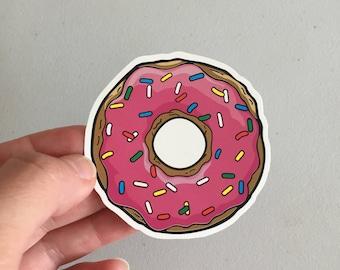 Donut Sprinkles Sticker, Doughnut Laptop Sticker, Vinyl Sticker, Girly Food Sticker, Tablet Sticker, Donut Gift
