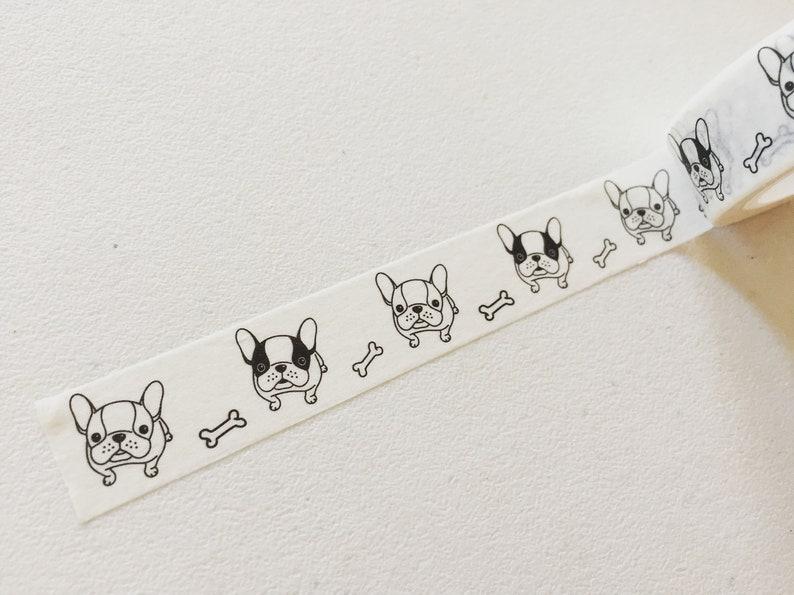 French Bulldog Washi Tape Frenchie Dog Planner Washi Doggy image 0