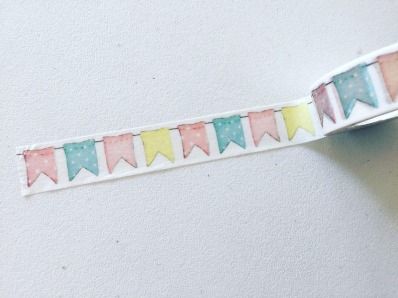 Bunting Washi Tape Flags Planner Washi Celebration Washi image 0