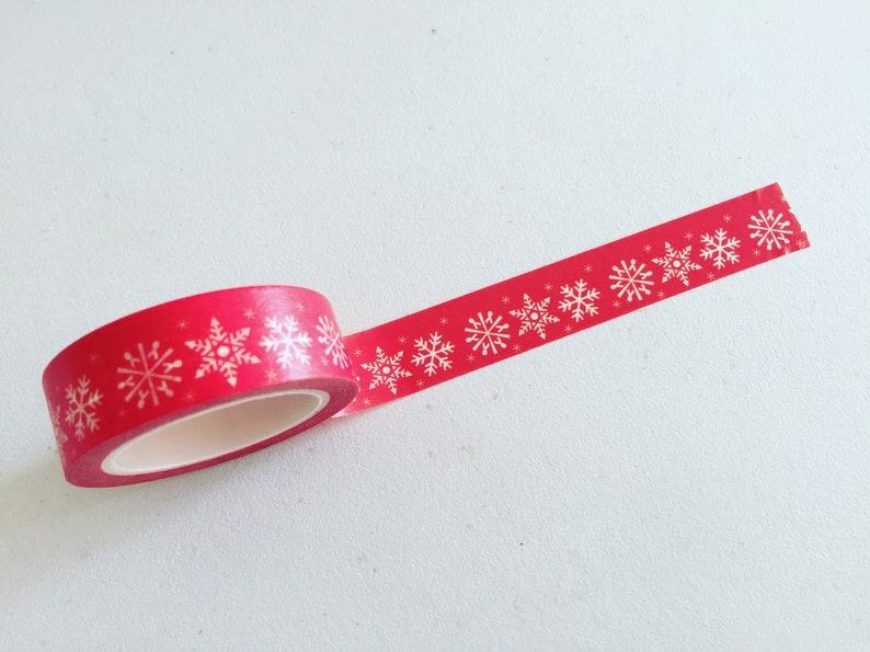 Winter Snowflakes Washi Tape Navy Christmas Washi Tape image 0