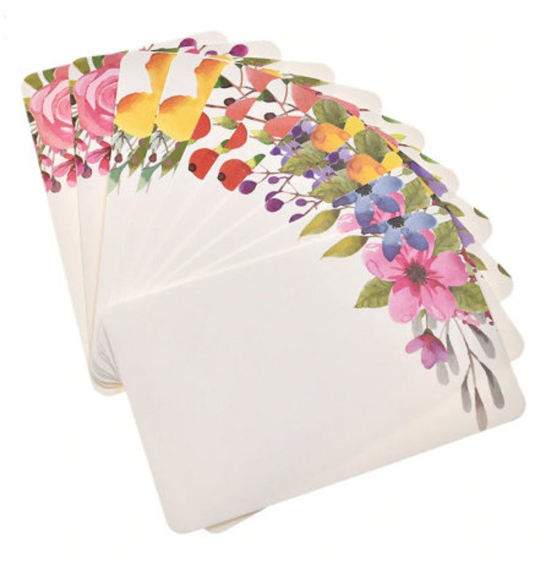 Floral Mini Card Flower Thank You Card Party Supplies image 0