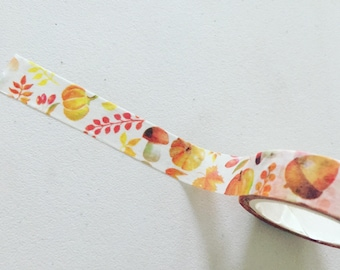 Autumn Woodland Washi Tape, Forest Theme Washi, Fall Planner Washi, Gift Wrapping Tape, Crafting Tape, Planner Supplies, Scrapbook Supplies