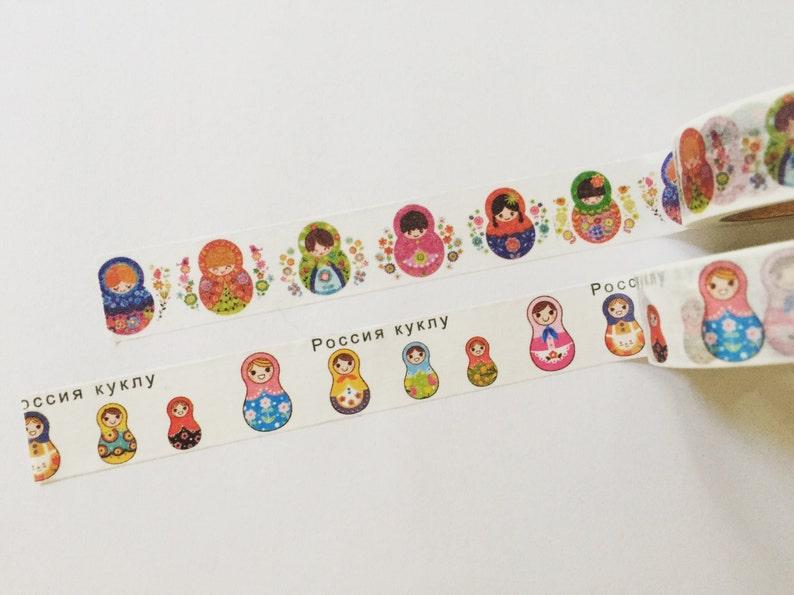 Russian Dolls Washi Tape Matryoshka Washi Folk Doll Crafting image 0