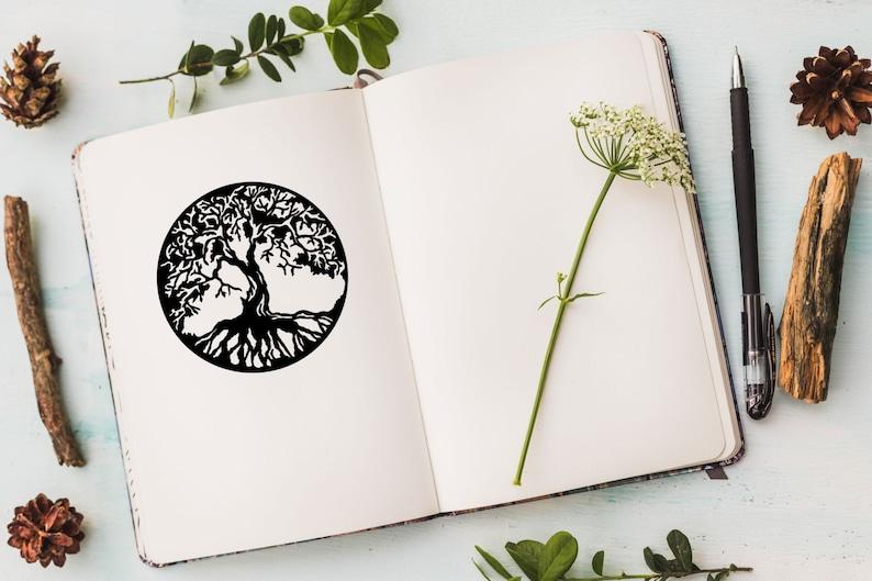 Tree Of Life Decal Sticker Yoga Symbol Mandala Sticker image 0