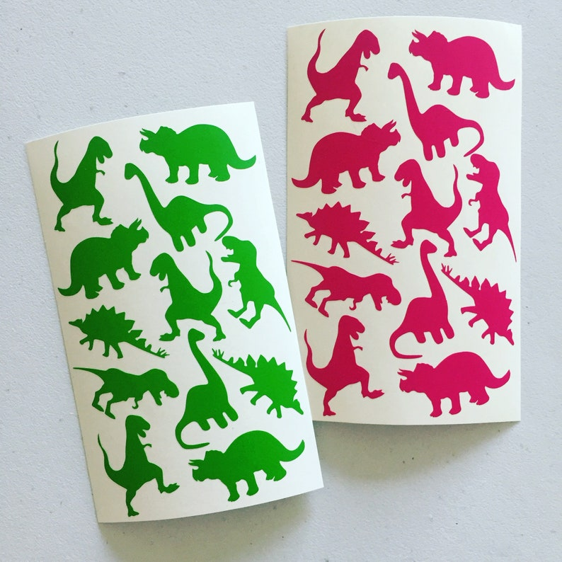 Dinosaur Party Stickers Dino Envelope Seal Stickers DIY image 0