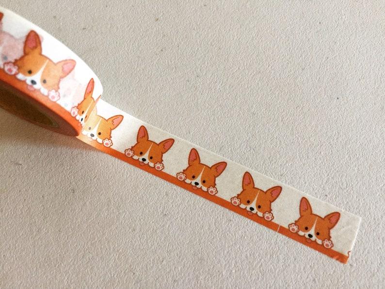 Corgi Washi Tape Dog Planner Washi Doggy Animal Washi Gift image 0