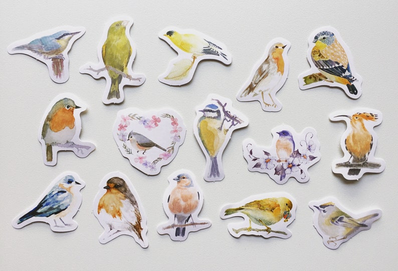 Birds Planner Stickers Bird Diary Stickers Card image 0