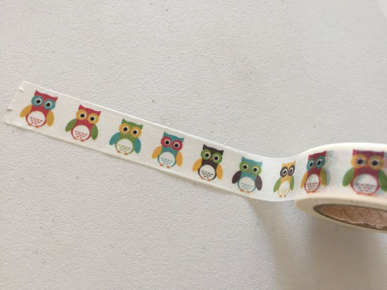 Owls Washi Tape Owl Planner Washi Gift Wrapping Tape image 0