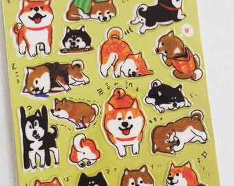 Shiba Inu Dog Stickers, Kawaii Animal Stickers, Planner Deco Stickers, Scrapbooking Stickers, Crafting Stickers, Dog Lover Gift