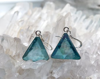 Aqua Aura Vogel - Marcel Vogel Earrings- set in Sterling Silver - A Grade !  Powerful