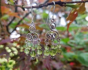 Beautiful Peridot Earrings - Powerful Cleansing Vibration - Heart & Solar Plexus Chakras